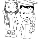 Graduation, Model Student Graduation Coloring Pages: Model Student Graduation Coloring Pages