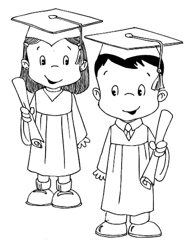 Graduation, : Model Student Graduation Coloring Pages