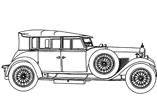 Model t Car, : Model T Car Coloring Pages for Kids