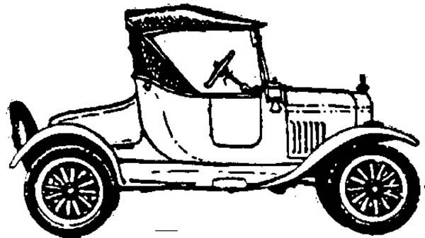 Model t Car, : Model T Car Coloring Pages