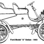 Model t Car, Model T Car Ford 1903 Sedan Coloring Pages: Model T Car Ford 1903 Sedan Coloring Pages