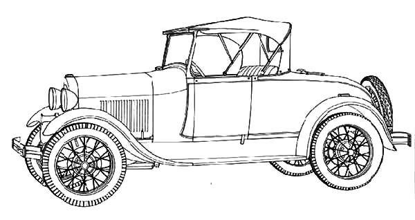 Model t Car, : Model T Car Ford 1928 Coloring Pages