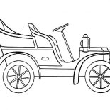 Model t Car, Model T Car Outline Coloring Pages: Model T Car Outline Coloring Pages