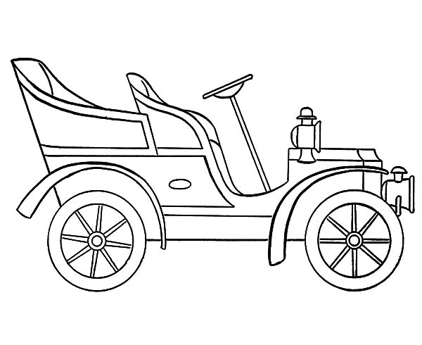 Model t Car, : Model T Car Outline Coloring Pages