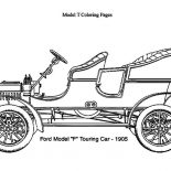Model t Car, Model T Car Touring 1906 Coloring Pages: Model T Car Touring 1906 Coloring Pages