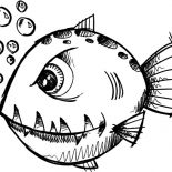 Monster Fish, Monster Fish Coloring Pages: Monster Fish Coloring Pages