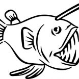 Monster Fish, Monster Fish Sharp Teeth Coloring Pages: Monster Fish Sharp Teeth Coloring Pages