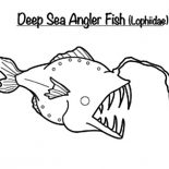 Monster Fish, Monster Fish In The Deep Sea Coloring Pages: Monster Fish in the Deep Sea Coloring Pages