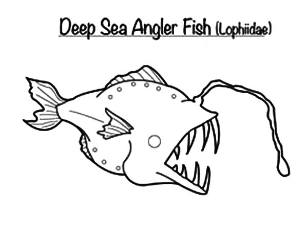 Monster Fish In The Deep Sea Coloring Pages : Color Luna