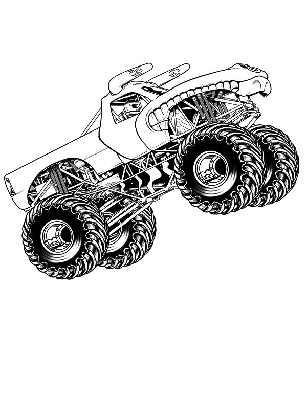 Monster Truck Coloring Pages - GetColoringPages.com | 776x600