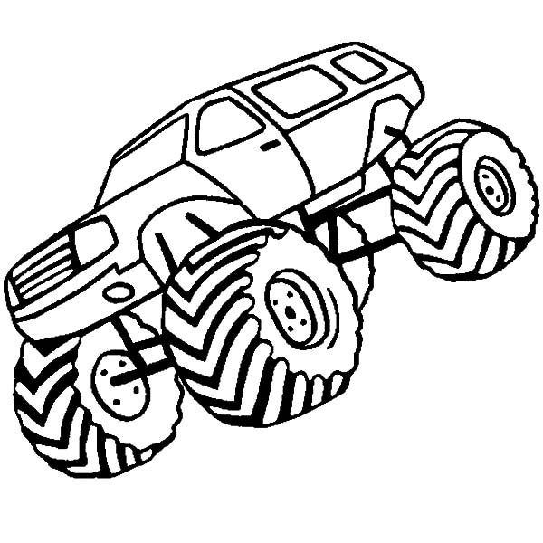 Monster Jam, : Monster Jam Championship Race Coloring Pages