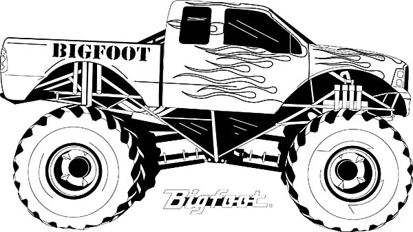 Monster Jam, : Monster Jam Coloring Pages for Kids