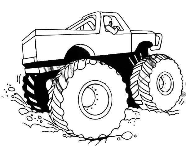 Monster Jam, : Monster Jam Competition Coloring Pages