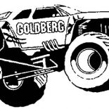 Monster Jam, Monster Jam Goldberg Monster Truck Coloring Pages: Monster Jam Goldberg Monster Truck Coloring Pages