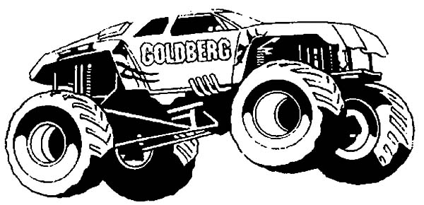 Monster Jam, : Monster Jam Goldberg Monster Truck Coloring Pages