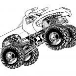 Monster Jam, Monster Jam Jumping Horned Truck Coloring Pages: Monster Jam Jumping Horned Truck Coloring Pages