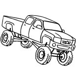 Monster Jam, Monster Jam Jumping Truck Coloring Pages: Monster Jam Jumping Truck Coloring Pages