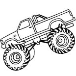 Monster Jam, Monster Jam Landing Monster Truck Coloring Pages: Monster Jam Landing Monster Truck Coloring Pages