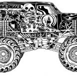 Monster Jam, Monster Jam Racing Anf Freestyle Coloring Pages: Monster Jam Racing anf Freestyle Coloring Pages