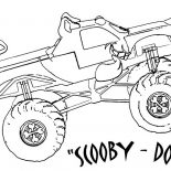 Monster Jam, Monster Jam Scooby Doo Monster Truck Coloring Pages: Monster Jam Scooby Doo Monster Truck Coloring Pages