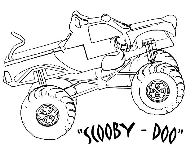Monster Jam, : Monster Jam Scooby Doo Monster Truck Coloring Pages