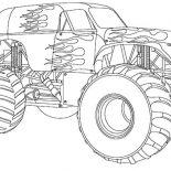 Monster Jam, Monster Jam Truck On Fire Coloring Pages: Monster Jam Truck on Fire Coloring Pages