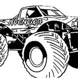 Monster Jam, Monster Truck Avenger Monster Jam Coloring Pages: Monster Truck Avenger Monster Jam Coloring Pages