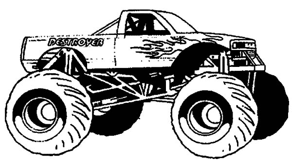 Monster Jam, : Monster Truck Ready for Monster Jam Show Coloring Pages