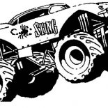 Monster Jam, Monster Truck Sting Monster Jam Coloring Pages: Monster Truck Sting Monster Jam Coloring Pages
