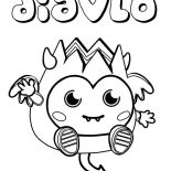 Moshi, Moshi Monster Diavlo Coloring Pages: Moshi Monster Diavlo Coloring Pages