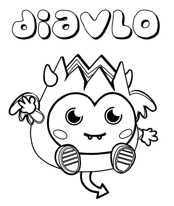 Moshi, : Moshi Monster Diavlo Coloring Pages