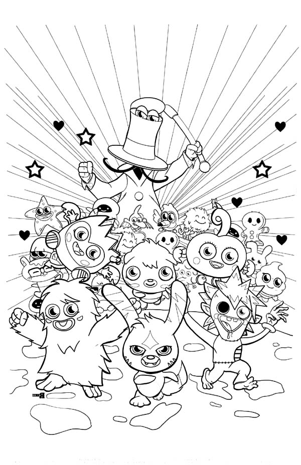 Moshi, : Moshi Monster Fun Time Coloring Pages