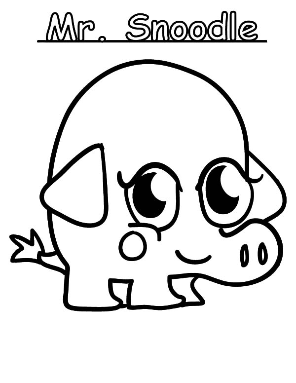 Moshi, : Moshi Monster Mr Snoodle Coloring Pages
