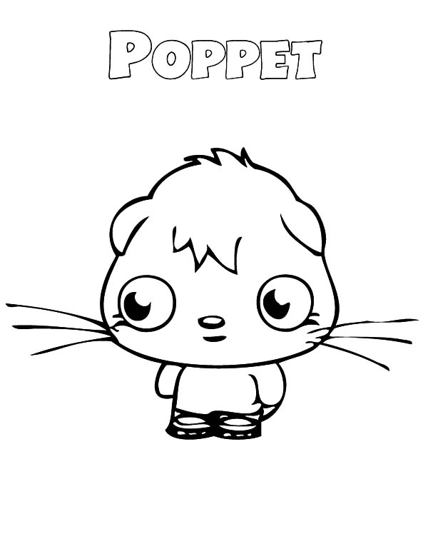 Moshi, : Moshi Monster Poppet Look Sad Coloring Pages