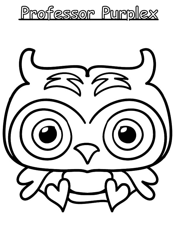 Moshi, : Moshi Monster Professor Purplex Coloring Pages