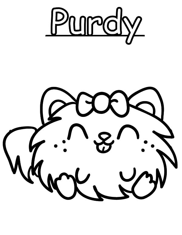 Moshi, : Moshi Monster Purdy Coloring Pages