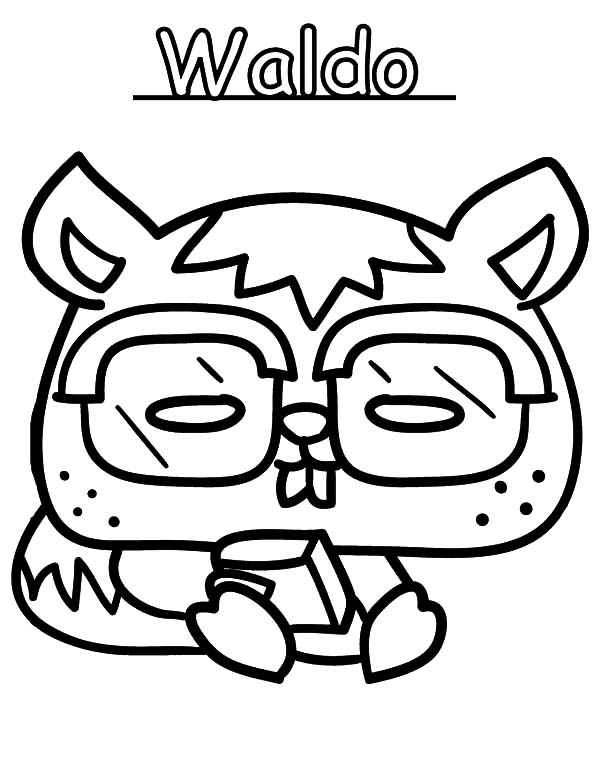 Moshi, : Moshi Monster Waldo Coloring Pages