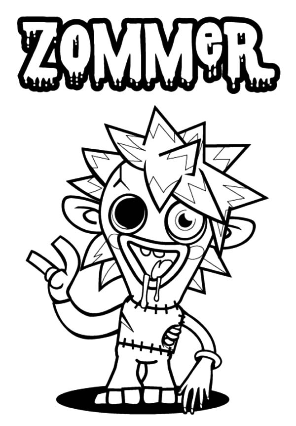 Moshi, : Moshi Monster Zommer Coloring Pages