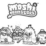 Moshi, Moshi Monster And Friends Coloring Pages: Moshi Monster and Friends Coloring Pages