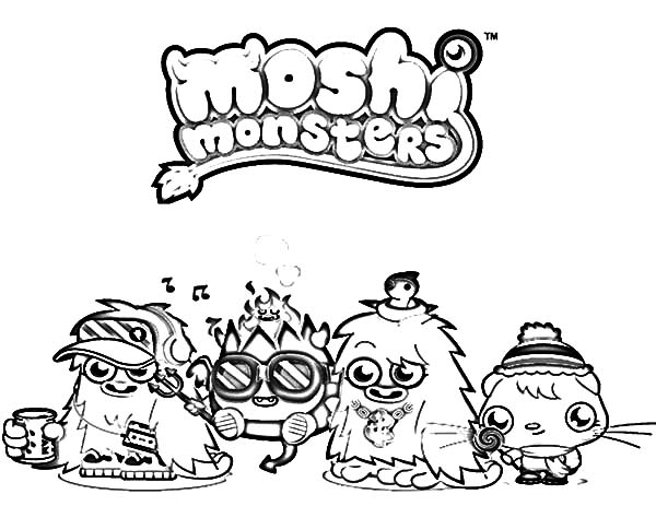 Moshi, : Moshi Monster and Friends Coloring Pages