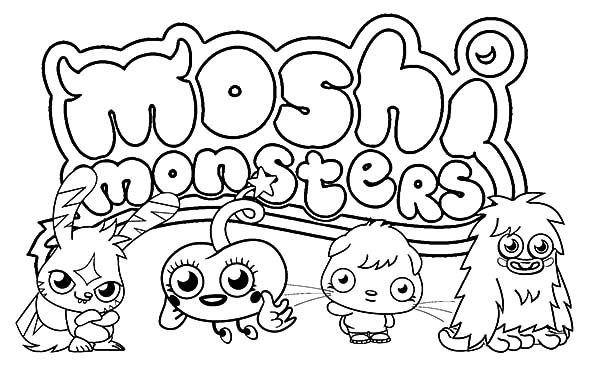 Moshi, : Moshi Monster from Monstro City Coloring Pages