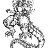 Godzilla, Mother Of Godzilla Coloring Pages: Mother of Godzilla Coloring Pages
