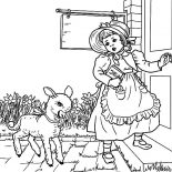 Mary Had a Little Lamb, Nursery Rhyme Mary Had A Little Lamb Coloring Pages: Nursery Rhyme Mary Had a Little Lamb Coloring Pages