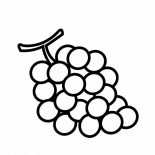 Grapes, Nutrious Fruit Grapes Coloring Pages: Nutrious Fruit Grapes Coloring Pages