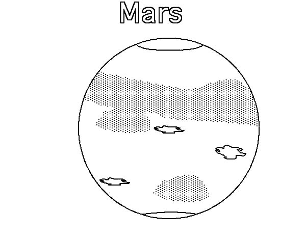 Mars, : Phobos and Deimos of Planet Mars Coloring Pages