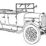 Model t Car, Picture Of Model T Car Coloring Pages: Picture of Model T Car Coloring Pages