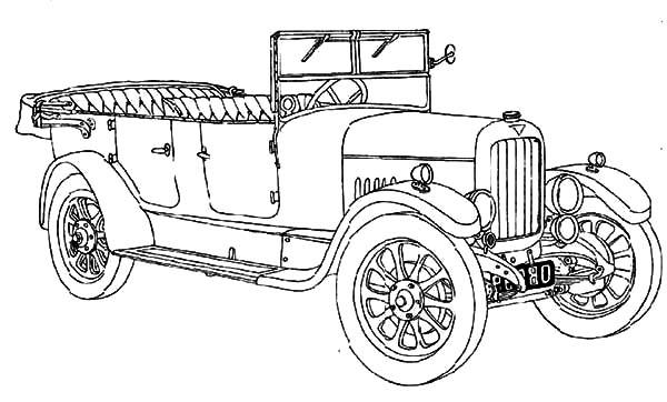 Model t Car, Picture Of Model T Car Coloring Pages: Picture of Model T Car Coloring Pages
