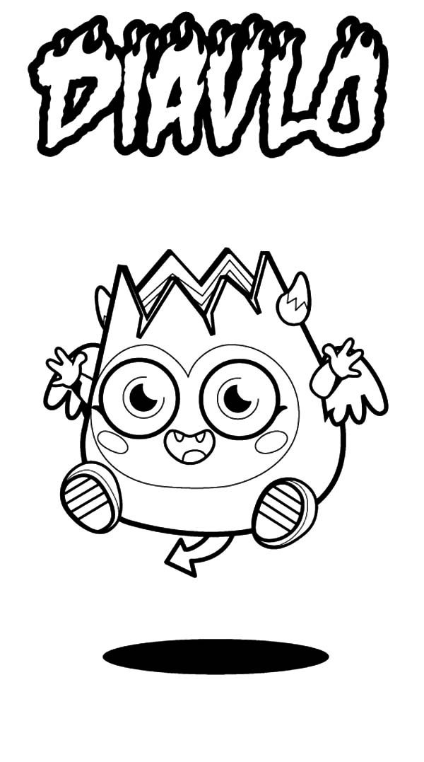 Moshi, : Picture of Moshi Monster Diavlo Coloring Pages