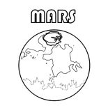 Mars, Picture Of Planet Mars Coloring Pages: Picture of Planet Mars Coloring Pages