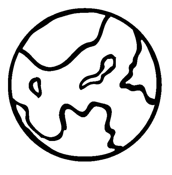 Mars, : Planet Mars Outline Coloring Pages
